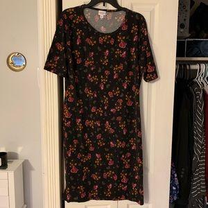 LulaRoe, Floral Julia Dress, Sz XL